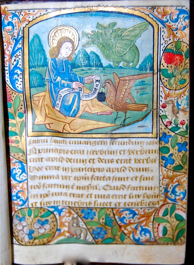Book of Hours 349G  John on Patmos