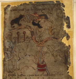 Detail of a miniature of gold-digging ants in the land of Gorgoneus, from the Marvels of the East, England, 4th quarter of the 10th century, Cotton MS Vitellius A XV, f. 101r - See more at: http://britishlibrary.typepad.co.uk/digitisedmanuscripts/featured-manuscripts/page/27/#sthash.QyoF6xrb.dpuf