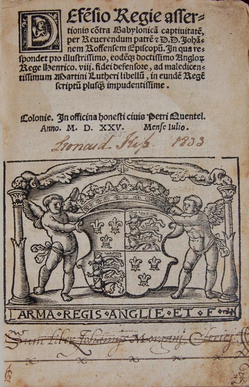 716G Defesio Regie assertionis cõ(n)tra Babylonica captiuitate