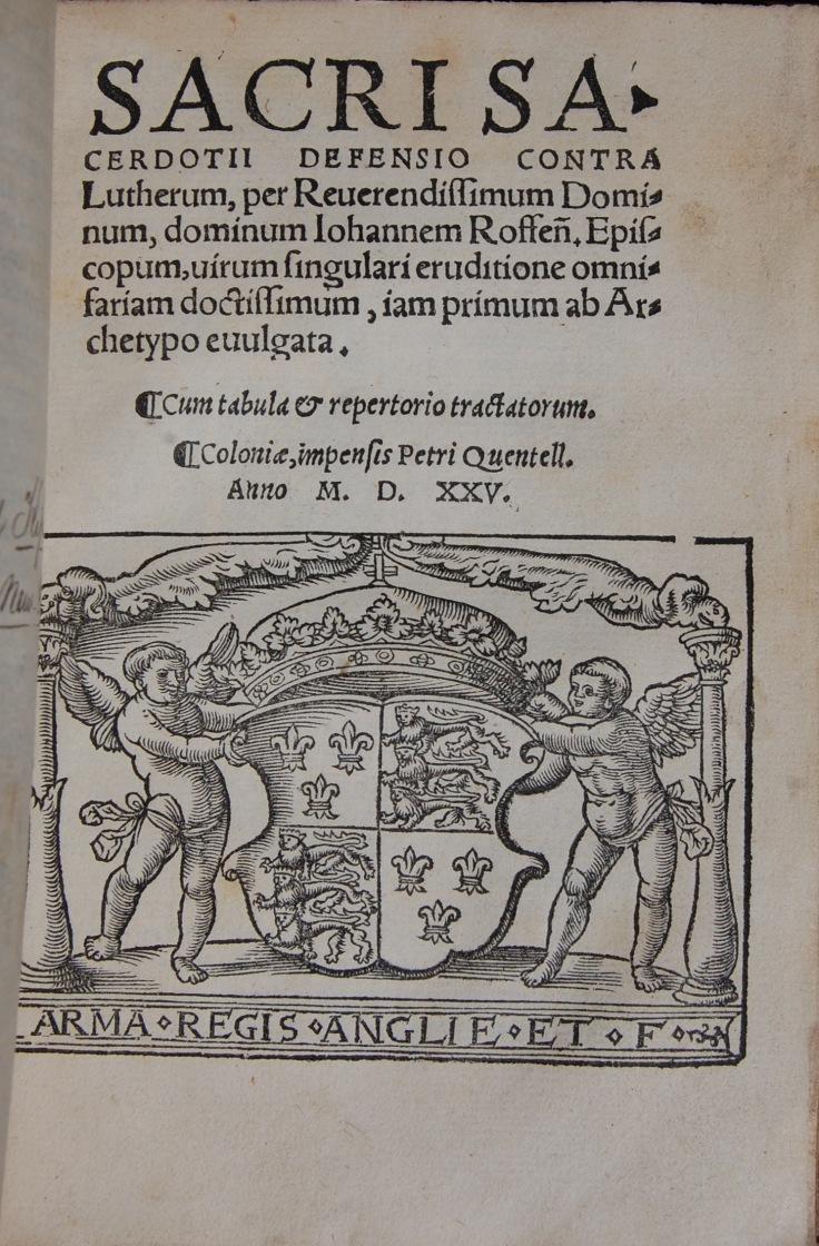 716G Sacri sacerdotij defensio cõ(n)tra Lutherum